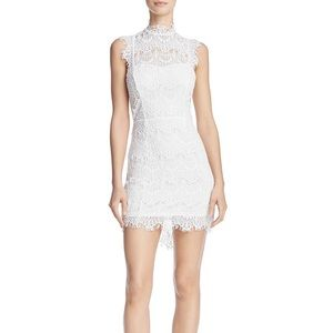 Free People daydream white lace backless dress